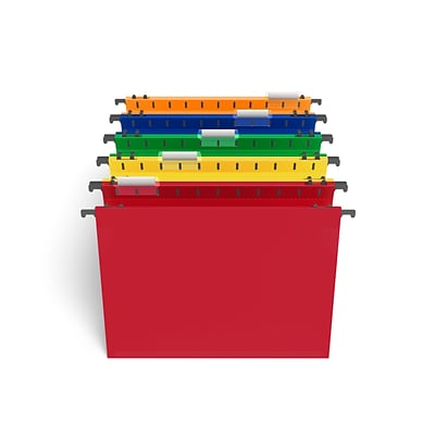 TRU RED™ Hanging File Pockets, Letter Size, Assorted Colors, 5/Pack (TR36330)