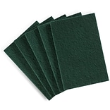 Coastwide Professional™ Medium Duty Scouring Pad, Green, 10/Pack (CW56787)