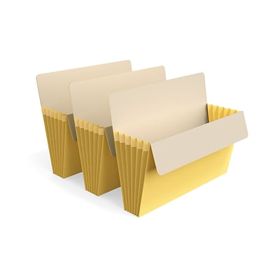 TRU RED™ Reinforced File Pocket, 5.25 Expansion, Letter Size, Yellow, 25/Box (TR614657)