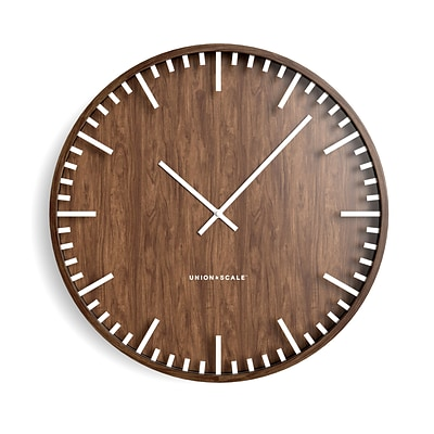Union & Scale™ Essentials Wall Clock, Wood, 16 (UN57811)