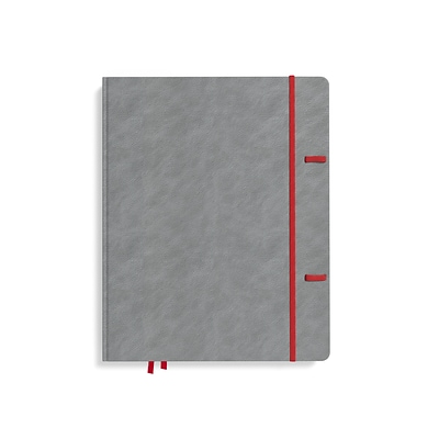 TRU RED™ Large Explore Journal, Dotted, Gray (TR58431)