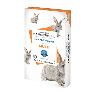 Hammermill Fore 8.5 x 14 Multipurpose Paper, 20 lbs., 96 Brightness, 500/Ream (103291)