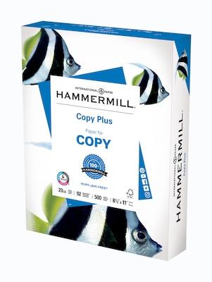 "20 lbs 92 Brightness BRAND NEW Hammermill Copy Plus 8.5/"" x 11/"" Copy Paper"