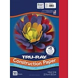 Tru-Ray 9 x 12 Construction Paper, Festive Red, 50 Sheets (P103431)