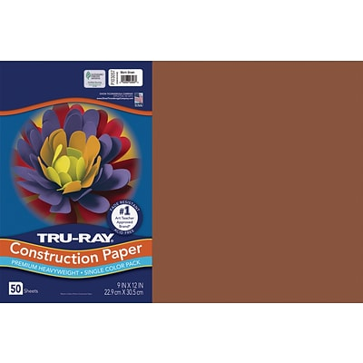 Tru-Ray 12 x 18 Construction Paper, Warm Brown, 50 Sheets (P103057)