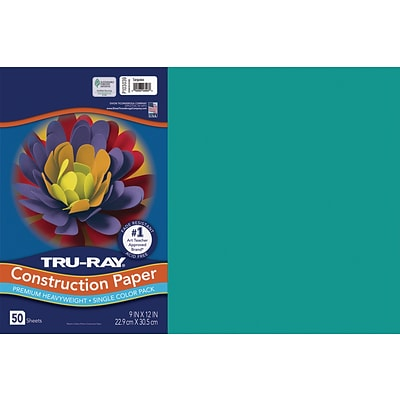 Tru-Ray 12 x 18 Construction Paper, Turquoise, 50 Sheets (P103039)