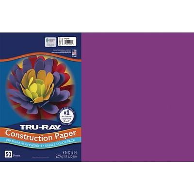 Tru-Ray 12 x 18 Construction Paper, Magenta, 50 Sheets (P103032)