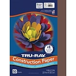 Tru-Ray 9 x 12 Construction Paper, Dark Brown, 50 Sheets (P103024)