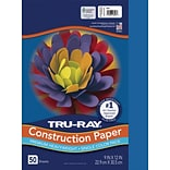Tru-Ray 9 x 12 Construction Paper, Blue, 50 Sheets (P103022)