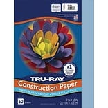 Tru-Ray 9 x 12 Construction Paper, Sky Blue, 50 Sheets (P103016)