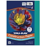 Tru-Ray 9 x 12 Construction Paper, Turquoise, 50 Sheets (P103007)