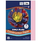 Tru-Ray 9 x 12 Construction Paper, Pink, 50 Sheets (P103012)