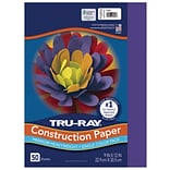 Tru-Ray 9 x 12 Construction Paper, Purple, 50 Sheets (P103019)