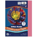 Tru-Ray 9 x 12 Construction Paper, Shocking Pink, 50 Sheets (P103013)