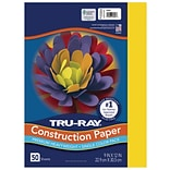 Tru-Ray 9 x 12 Construction Paper, Yellow, 50 Sheets (P103004)