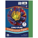 Tru-Ray 9 x 12 Construction Paper, Holiday Green, 50 Sheets (P102960)