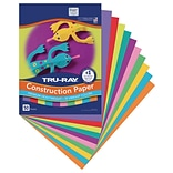 Tru-Ray 9 x 12 Construction Paper, Assorted Colors, 50 Sheets (P102940)