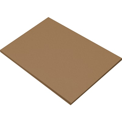 Riverside 3D 12 x 18 Construction Paper, Brown, 50 Sheets (P103629)