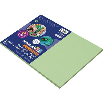 Riverside 3D 12 x 18 Construction Paper, Light Green, 50 Sheets (P103619)