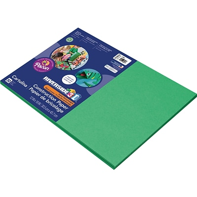 Riverside 3D 12 x 18 Construction Paper, Green, 50 Sheets (P103620)