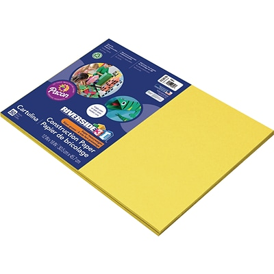 Riverside 3D 12 x 18 Construction Paper, Yellow, 50 Sheets (P103616)