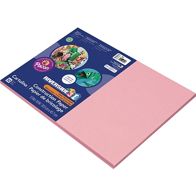 Riverside 3D 12 x 18 Construction Paper, Pink, 50 Sheets (P103615)