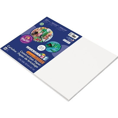 Riverside 3D 12 x 18 Construction Paper, White, 50 Sheets (P103613)