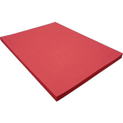 Riverside 3D 9 x 12 Construction Paper, Red, 50 Sheets (P103590)