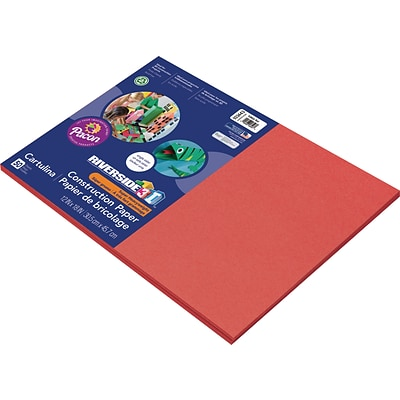 Riverside 3D 12 x 18 Construction Paper, Holiday Red, 50 Sheets (P103443)