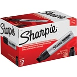 Sharpie Magnum Permanent Marker, Jumbo Chisel Point, Black, Dozen (44001)