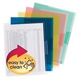 Smead Organized Up File Pocket, Letter Size, Assorted, 5/Pack (85750)