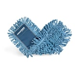 Coastwide Professional™ Looped-End Dust Mop Head, Cotton, 24 x 5, Blue (CW56759)