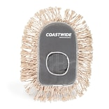 Coastwide Professional™ Cut-End Wedge Dust Mop Head, Cotton, White (CW56762)