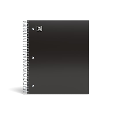 TRU RED™ Premium 5-Subject Notebook, 8.5 x 11, College Ruled, 200 Sheets, Black (TR58317)