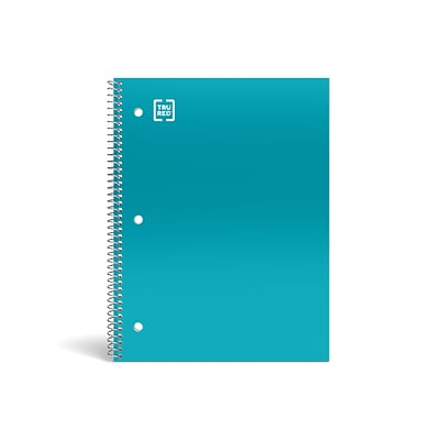 TRU RED™ Premium 1-Subject Notebook, 8 x 10.5, Wide Ruled, 100 Sheets, Teal (TR20961)