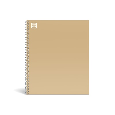 TRU RED™ Premium 1-Subject Notebook, 8.5 x 11, College Ruled, 100 Sheets, Brown (TR52121)