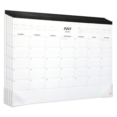 Buy 4 2020-2021 TRU RED™ 17 x 22 Desk Calendar Black/Red, Get 1 FREE (CD1TR129522)