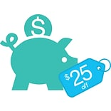 $25 off PLUS $25 in QuillCASH with $325