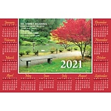 Calendar Magnets; 4x6, Red Tree
