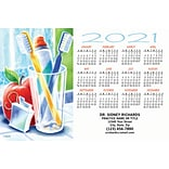 Calendar Magnets; 4x6, Toothbrushes
