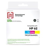 TRU RED™ Remanufactured Tri-Color Standard Yield Ink Cartridge Replacement for HP 62 (C2P06AN)