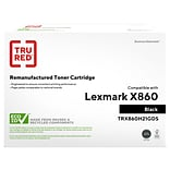 TRU RED™ Remanufactured Black High Yield Toner Cartridge Replacement for Lexmark (X860H21G)