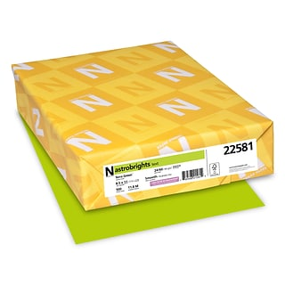 Astrobrights Colored Paper, 24 lbs., 8.5 x 11, Terra Green, 500 Sheets/Ream (22581/21588)