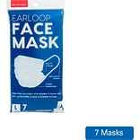 Iris Earloop Disposable Face Mask, Individually Wrapped, Large, 7/Pack (590017)