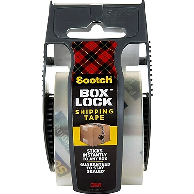 Scotch Box Lock 1.88 x 22.2 yds., Shipping Packaging Tape, 1 Roll/Pack (195)