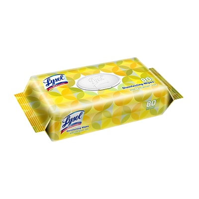 Lysol Disinfecting Wipes, Lemon & Lime Blossom, 80 Wipes per Pack, 6 Pk/CT (1920099716)