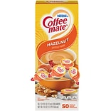 Coffee-mate Hazelnut Liquid Creamer, 0.38 Oz., 50/Box (35180)