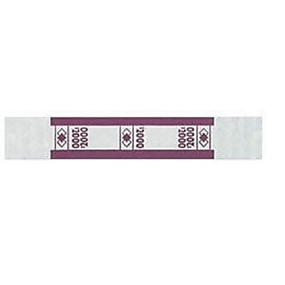 PM Company Currency Straps, White/Violet, $2,000, 1,000/Pk