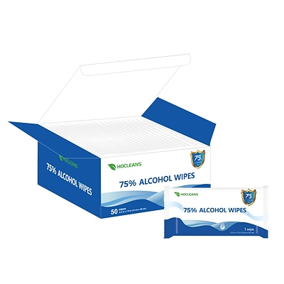 Ethyl Alcohol Wipes, 50 Wipes/Pack (W-07524)