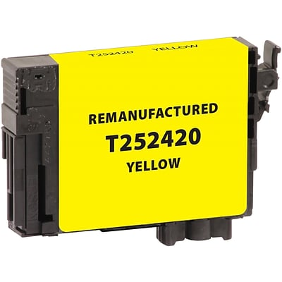 CIG Remanufactured Yellow Standard Yield Ink Cartridge Replacement for Epson T252 (T252420)